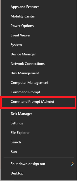 Command Prompt in the Administrator