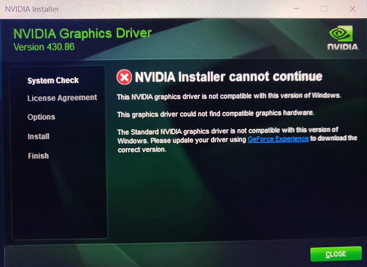 Geforce Experience Nvidia Installer Cannot Continue