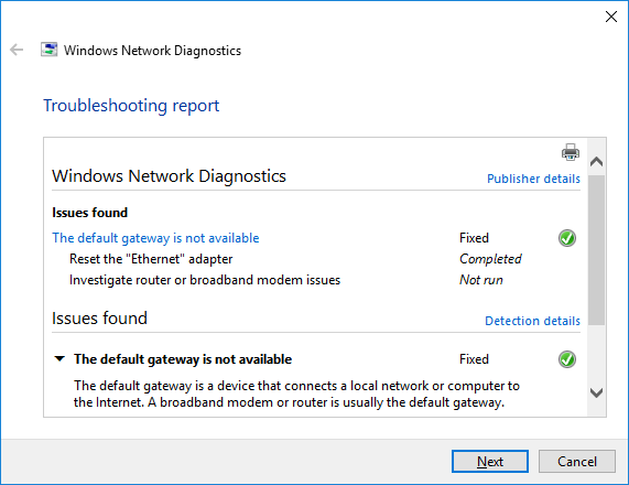 How I Fixed The Default Gateway Is Not Available