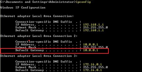 Find your Router's IP Address - 10.0.0.1