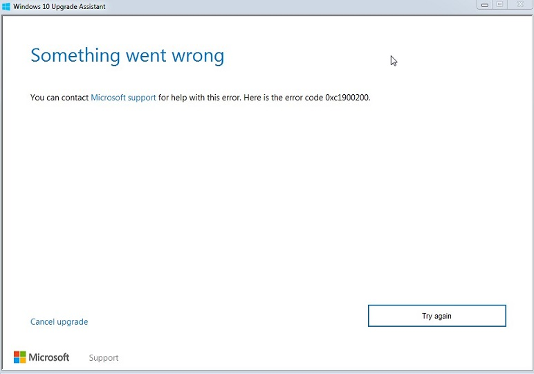 How to Fix Error Code 0xc1900200 in Windows 10