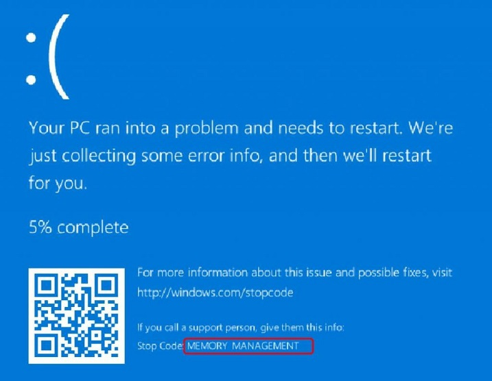 Stop Code Memory Management BSOD Error on Windows 10